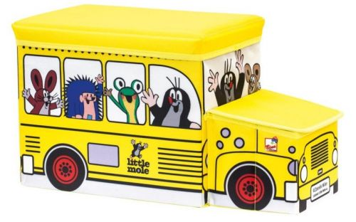 Bino Krteček Krabice na hračky autobus