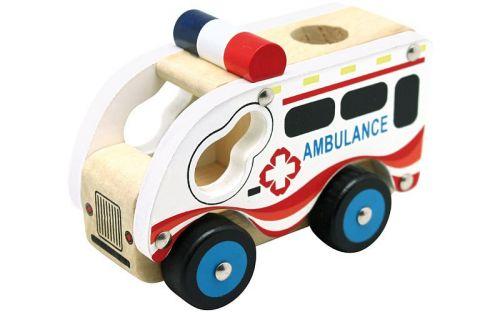 Bino Dřevěné auto ambulance cena od 95 Kč