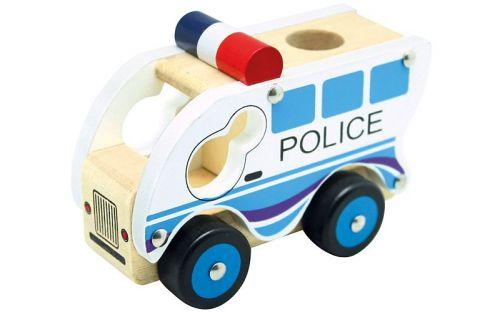 Bino Dřevěné auto policie cena od 119 Kč