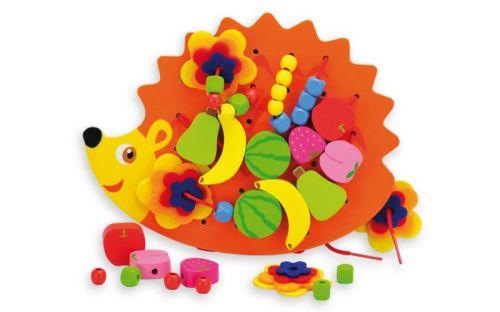 Andreu Toys Šněrovací ježek s korálky