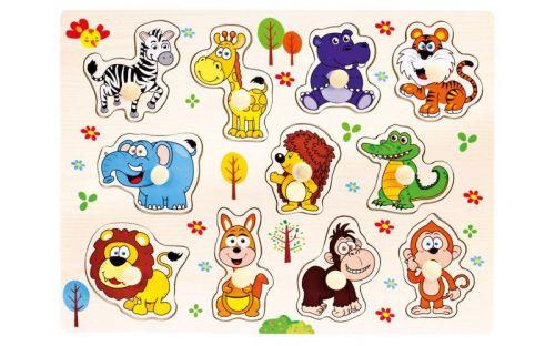 Bino Dřevěné puzzle safari 11 dílků cena od 89 Kč
