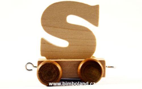 Bino Dřevěný vagónek S