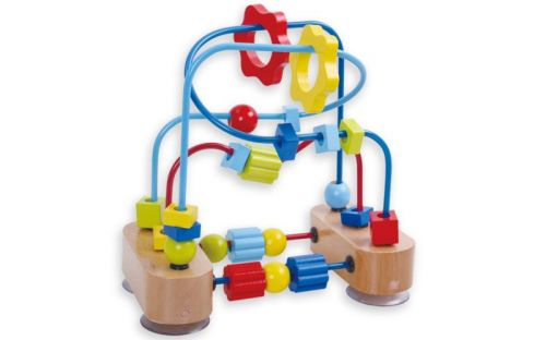 Andreu Toys Motorický labyrint s korálky