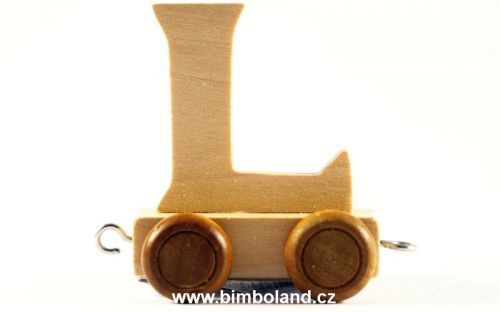Bino Dřevěný vagónek L cena od 0 Kč