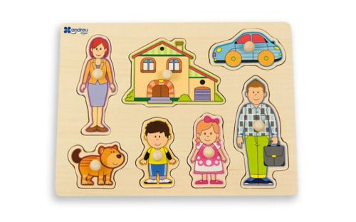 Andreu Toys Puzzle Rodina