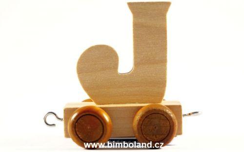 Bino Dřevěný vagónek J cena od 27 Kč