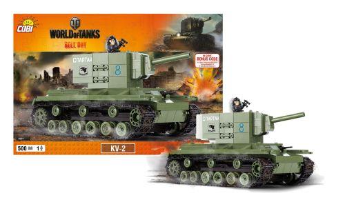 COBI stavebnice World of Tanks tank KV2, 500 k