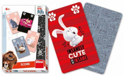 DINO Toys karty Score Tajný život mazlíčků