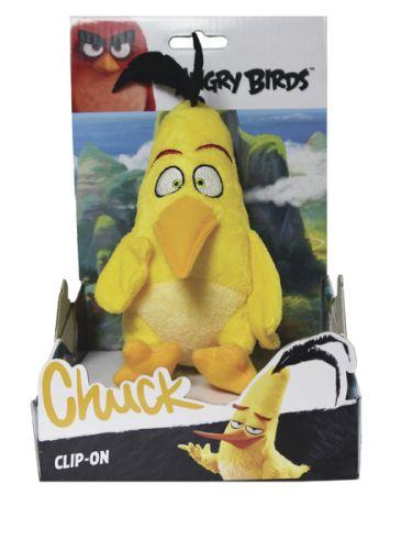 ADC Blackfire Angry Birds plyšová hračka Chuck s přívěškem, 14 cm