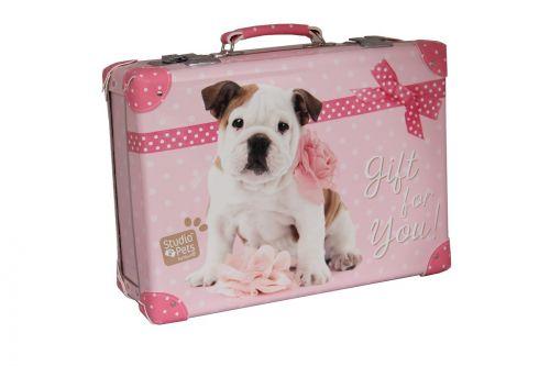 Kazeto kufr nýtovaný Milly Studio Pets, 40 cm