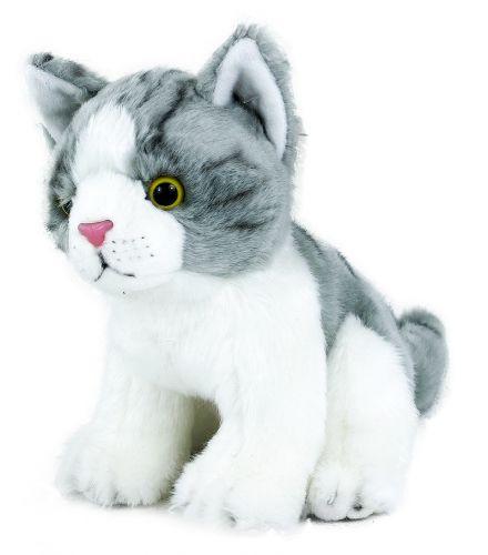 RAPPA plyšová kočka sedící 18 cm