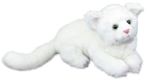 RAPPA plyšová kočka ležící 26 cm
