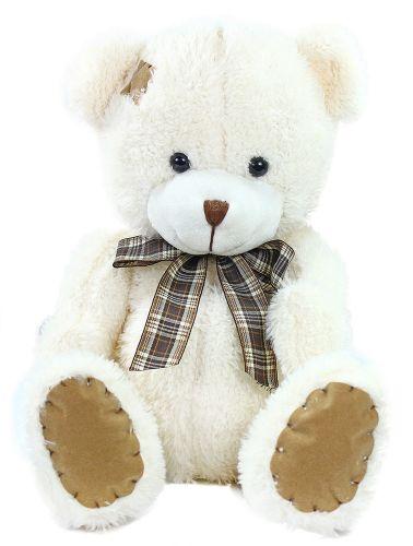 RAPPA plyšový medvěd s mašlí a záplatou 27 cm cena od 0 Kč