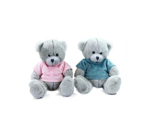 RAPPA plyšový medvěd sedící v oblečku 20 cm