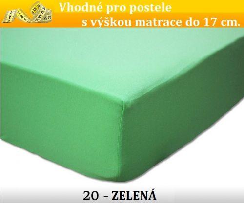 FIT 20 zelené jersey prostěradlo