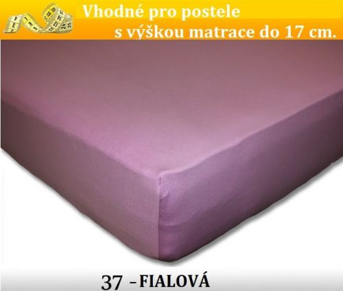 FIT 37 fialové jersey prostěradlo