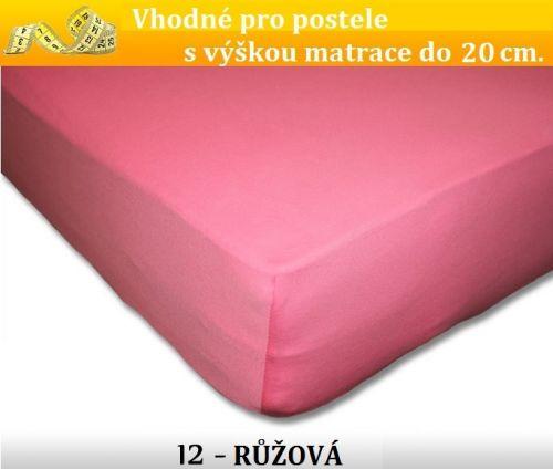 FIT Extra 12 růžové jersey prostěradlo