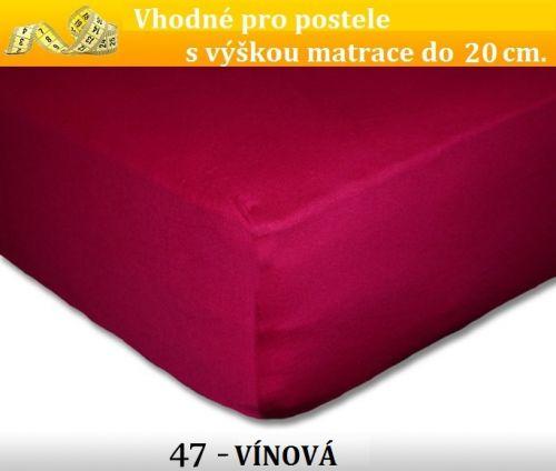 FIT Extra 47 VÍNOVÉ jersey prostěradlo