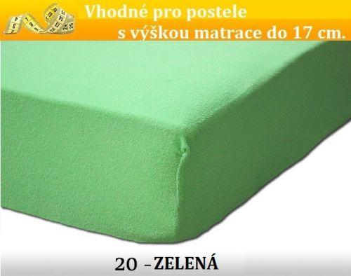 FIT 20 zelené froté prostěradlo