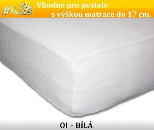 FIT 01 bílé froté prostěradlo