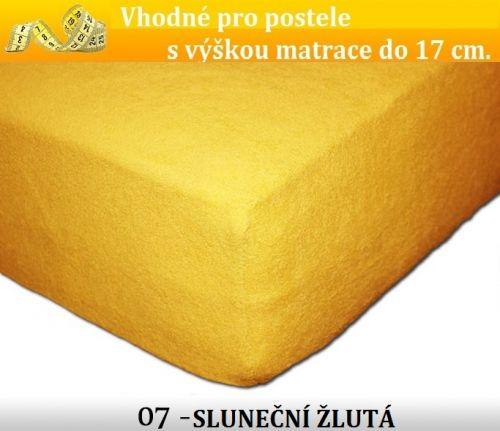 FIT 07 SLUNEČNÍ ŽLUTÁ froté prostěradlo