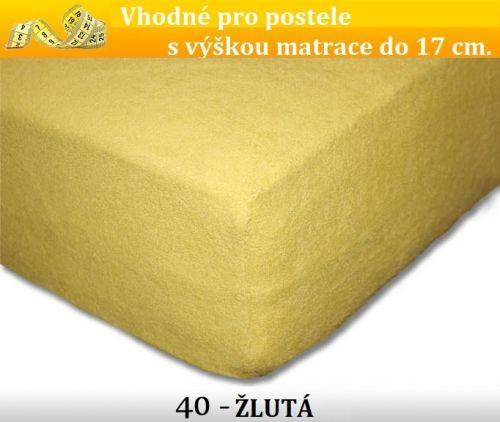 FIT 40 ŽLUTÉ froté prostěradlo
