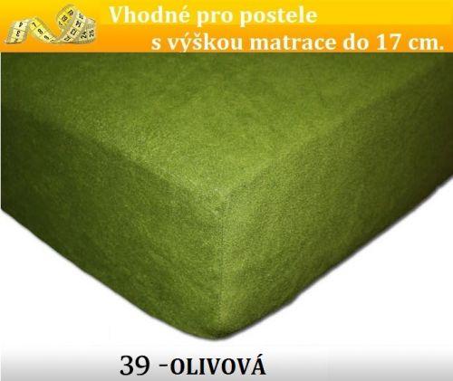 FIT 39 OLIVOVÉ froté prostěradlo