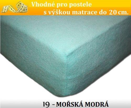 FIT 19 MOŘSKÁ MODRÁ froté prostěradlo