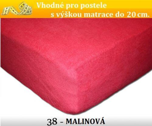 FIT 38 MALINOVÉ froté prostěradlo