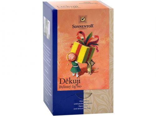 SONNENTOR Děkuji bylinný čaj bio 27 g dvoukomorový cena od 64 Kč