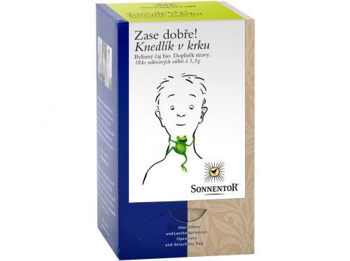 SONNENTOR Knedlík v krku bio bylinný porcovaný čaj dvoukomorový 27g