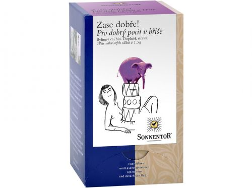 SONNENTOR Pro dobrý pocit v břiše bio bylinný porcovaný čaj dvoukomorový 27 g