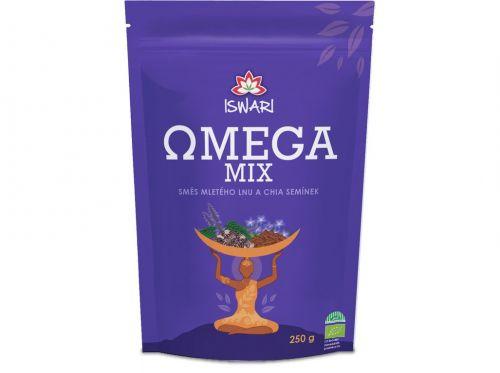 Iswari Bio Omega Mix (směs mletých semínek chia, hnědý len) 250 g cena od 91 Kč