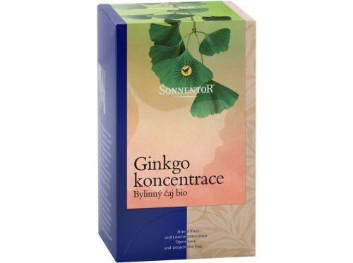 SONNENTOR Ginkgo koncentrace bio porcovaný 20 g cena od 71 Kč