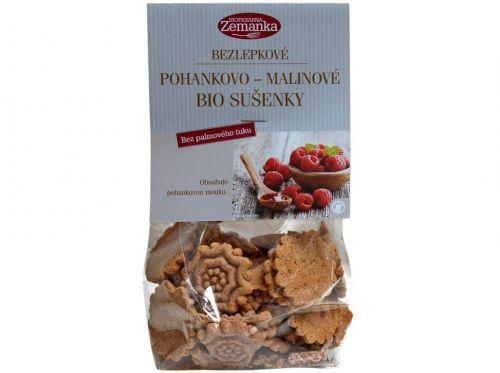 Biopekárna Zemanka Bezlepkové pohankovo malinové bio sušenky 100 g