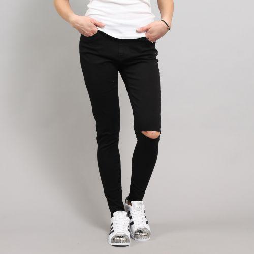 Urban Classics Ladies Cut Knee kalhoty