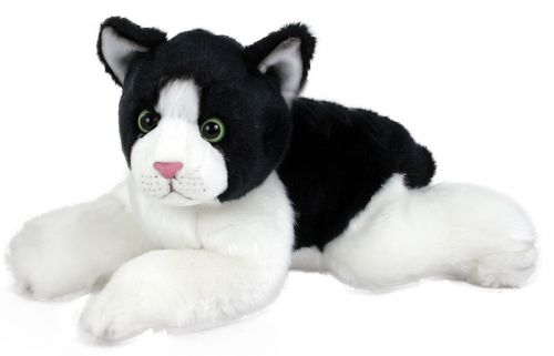 RAPPA plyšová kočka ležící 28 cm