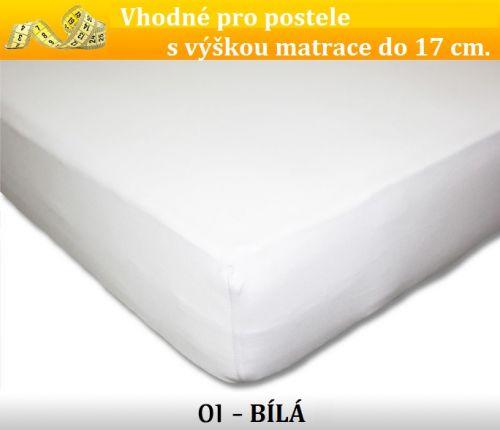FIT bílé bavlněné prostěradlo