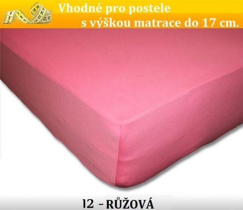 FIT růžové bavlněné prostěradlo