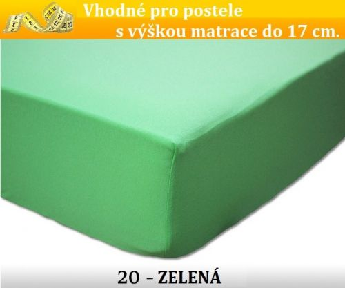 FIT zelené bavlněné prostěradlo