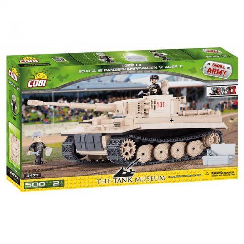 COBI stavebnice tank II WW Tiger č. 131, 500 k, 3 f