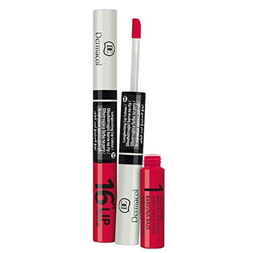Dermacol Revoluční dlouhotrvající dvoufázová barva na rty a lesk 2v1 16H Lip Colour 3 ml + 4,1 ml 1