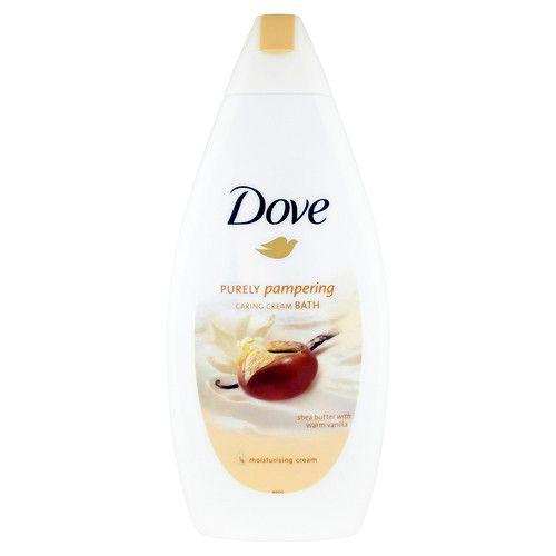 Dove Krémová pěna do koupele s bambuckým máslem a vanilkou Purely Pampering (Caring Cream Bath) 500 ml