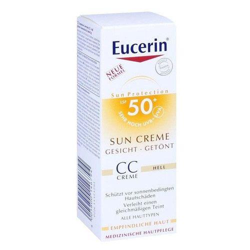 Eucerin CC krém na opalování na obličej SPF 50+ Medium Dark (Sun CC Creme) 50 ml