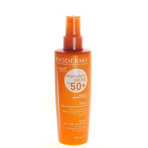 Bioderma Sprej pro citlivou pleť SPF 50+ Photoderm Bronz (Spray Very Hight Protection) 200 ml