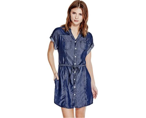 Guess Maren Chambray Shirtdress šaty cena od 0 Kč
