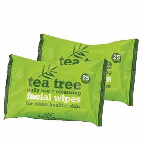 XPel Čistící ubrousky Tea Tree (Facial Wipes) 2x25 ks