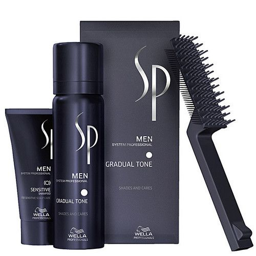 Wella Tónovací pěna na vlasy pro muže 60 ml + šampon na vlasy 30 ml SP Men (Gradual Tone) hnědá