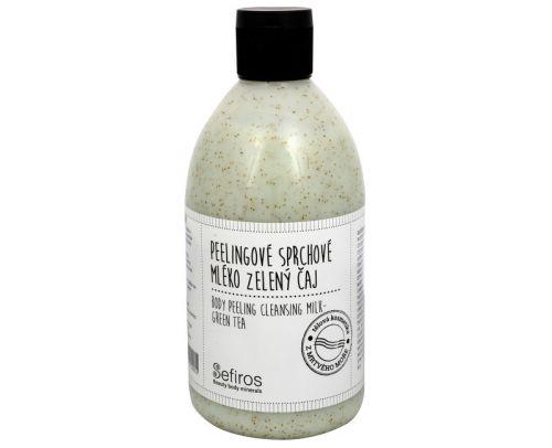 Sefiros Peelingové sprchové mléko Zelený čaj 500 ml