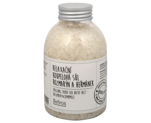 Sefiros Relaxační koupelová sůl Rozmarýn a heřmánek (Original Dead Sea Bath Salt) 500 g